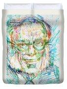 Isaac Asimov Portrait Duvet Cover