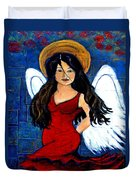 Isabella  A Spanish Earth Angel From Cultures Around The World Duvet Cover by The Art With A Heart By Charlotte Phillips