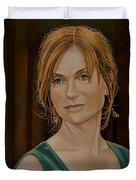Isabelle Huppert Painting Duvet Cover