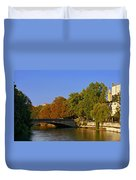 Isar River - Munich - Bavaria Duvet Cover by Christine Till