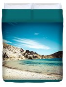 Isla Del Sol On The Titicaca Lake Duvet Cover
