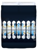 Islamic Architecture Of Abu Dhabi Grand Mosque - Uae Duvet Cover
