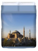 Islamic Mosque At Sunset Istanbul Duvet Cover by Mark Thomas