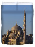 Islamic Mosque Istanbul, Turkey Duvet Cover by Mark Thomas