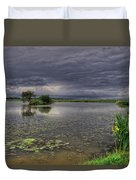 Island And Flowers Duvet Cover