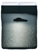 Lugu Lake Island And Ripples China Duvet Cover