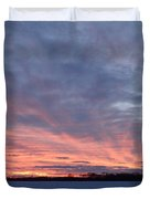Island Barn Sunset Duvet Cover