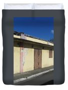 Island Decay Building Duvet Cover