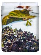 Island In The Snow Duvet Cover