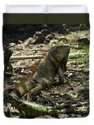 Island Lizards Four Duvet Cover