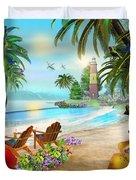 Island Of Palms Duvet Cover