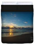 Coastal Beach Sunrise Duvet Cover