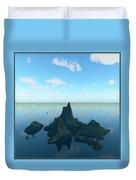 Isle And Sea... Duvet Cover
