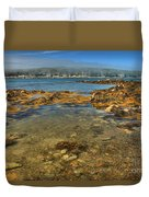 Isle Au Haut Beach Duvet Cover by Adam Jewell