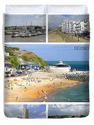 Isle Of Wight Collage - Labelled Duvet Cover