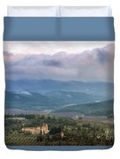 Israel Latron Monastery And Winery Duvet Cover