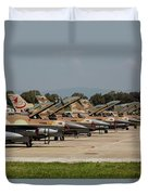 Israeli Air Force F-16`s Of Three Duvet Cover
