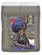 Its All In The Head - Rishikesh India Duvet Cover