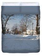 It Snowed Duvet Cover