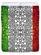 Italian Flag - Italy Stone Rock'd Art By Sharon Cummings Italia Duvet Cover