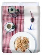 Italian Food Duvet Cover