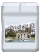 Italian Fountain In London Hyde Park Duvet Cover by Semmick Photo