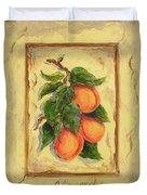 Italian Fruit Apricots Duvet Cover