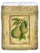 Italian Fruit Pears Duvet Cover