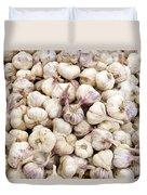 Italian Garlic Bulbs Duvet Cover