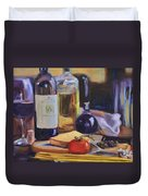 Italian Kitchen Duvet Cover by Donna Tuten