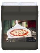 Italian Pizza Ready For The Oven Duvet Cover