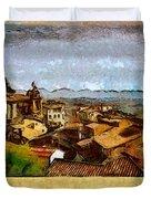 Italian Rooftops Duvet Cover
