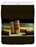 Italian Wine Corks Duvet Cover