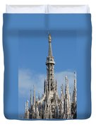 The Spire Of Milan Cathedral Duvet Cover