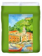 Italy - Portofino Duvet Cover