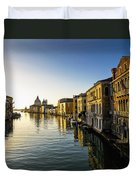 Italy, Venice, Buildings Along Canal Duvet Cover