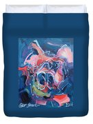 It's A Doggy Dog World Duvet Cover