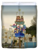 Its A Small World Fantasyland Signage Disneyland Duvet Cover