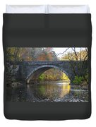 It's Autumn At The Valley Green Bridge Duvet Cover