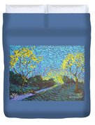 It's Just Over The Hill Duvet Cover