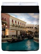 It's Not Venice - Gondoliers On The Grand Canal Duvet Cover