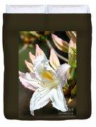 Ivory Azalea Duvet Cover