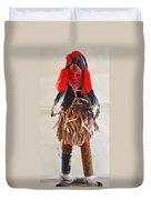 Ivory Coast Native Katchina Doll Duvet Cover