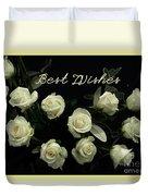 Ivory Roses Greeting  Duvet Cover