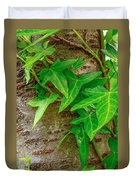 Ivy Wrapped Tree Trunk Duvet Cover