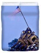 Iwo Jima Memorial At Dusk Duvet Cover