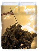 Iwo Jima Memorialized Duvet Cover
