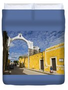 Izamal And It's Famous Arch Duvet Cover