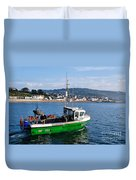 J B P Leaving The Harbour Duvet Cover