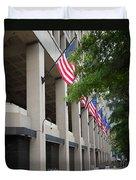 J Edgar Hioover Fbi Building Duvet Cover